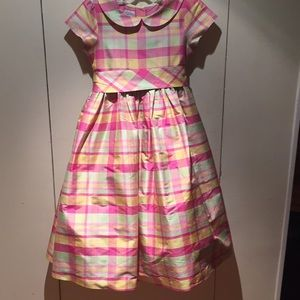 Talbots Kids 100% Silk Taffeta Dress - Size 8